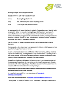 job advert templatefor bb cmht southwark