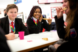 Young People Enjoy Breakfast Provision in School