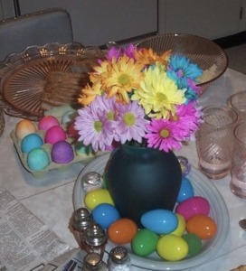 Dyed boiled Easter Eggs
